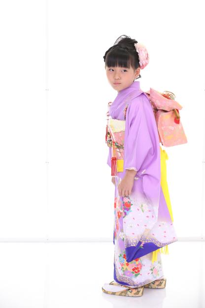 七五三着物七歳 紫色-4
