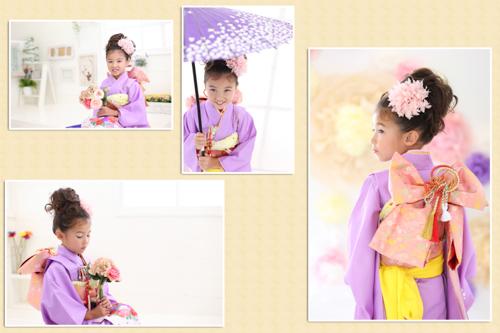 七五三着物七歳 紫色-3