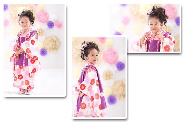 式部浪漫 三歳着物 紫-1