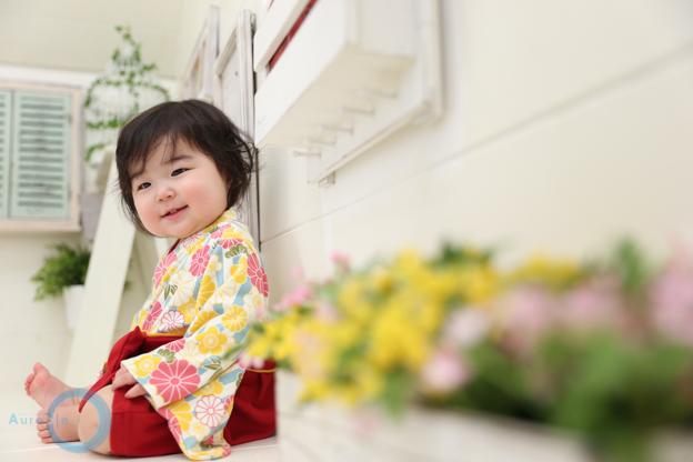 人気の一升餅プランで記念撮影 | 神奈川県 1歳Yuzukiちゃん