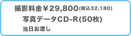 授乳写真プラン料金¥29,800