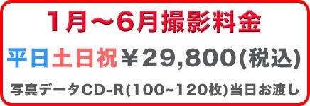 七五三プラン料金1~6月 平日¥29,800
