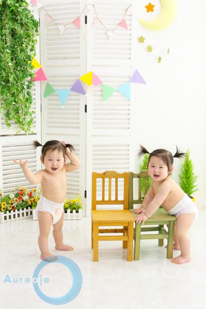 双子1歳誕生日20180518-4
