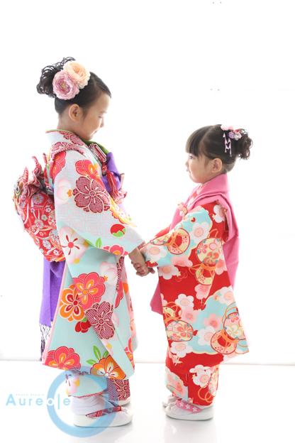姉妹で七五三 yuinaちゃんHinanoちゃん
