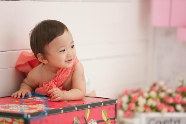 一升餅で1歳誕生日20181030-4